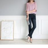《BC0021》韓版藍黑復古小喇叭牛仔褲--適 2L~7L OrangeBear