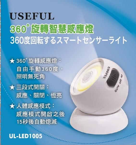 USEFUL 360度旋轉智慧感應燈 UL-LED1005