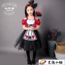 萬聖節萬聖節服裝女童愛麗絲夢游仙境角色扮演cosplay女仆裝演出服 星際小鋪