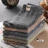 襪子 商務男士厚長襪中筒秋冬季防臭吸汗透氣運動棉襪潮5雙裝 快速出貨