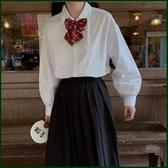 長袖polo衫 加絨加厚保暖 秋冬日系學院風白色長袖襯衫女學生寬鬆蝴蝶結襯衣 寶貝計書