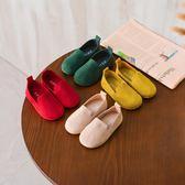 兒童鞋單鞋男童小皮鞋女童豆豆鞋軟底布鞋【南風小舖】