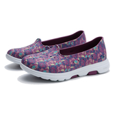 SKECHERS 水鞋 GO WALK5 紫色 花花 防水膠鞋 女 (布魯克林) 111106PRMT