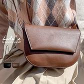LULUS【A07210001】Y軟皮革翻蓋側背包2色