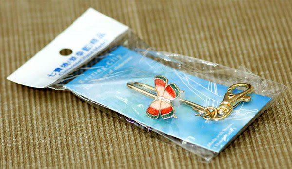 【鹿港窯】景泰藍掛式皮包鎖圈‧玫瑰花‧出外公差‧旅行‧方便你快速拿到鑰匙