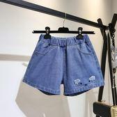 大尺碼短褲2019大碼牛仔短褲女夏韓版顯瘦寬松闊腿熱褲A629(R26)