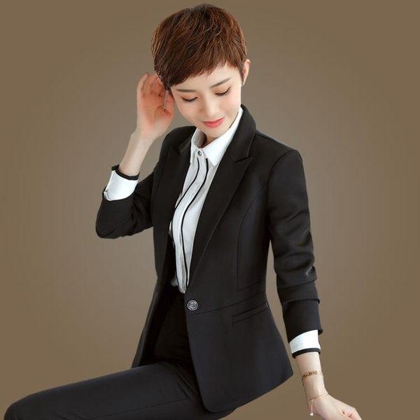 西裝外套    職業修身大碼正裝工作服短款長袖西服上衣