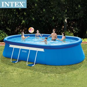 INTEX橢圓型EASY SET泳池26191+送幫浦66639
