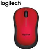 Logitech 羅技 M221 無線靜音滑鼠 紅【送羅技滑鼠墊】