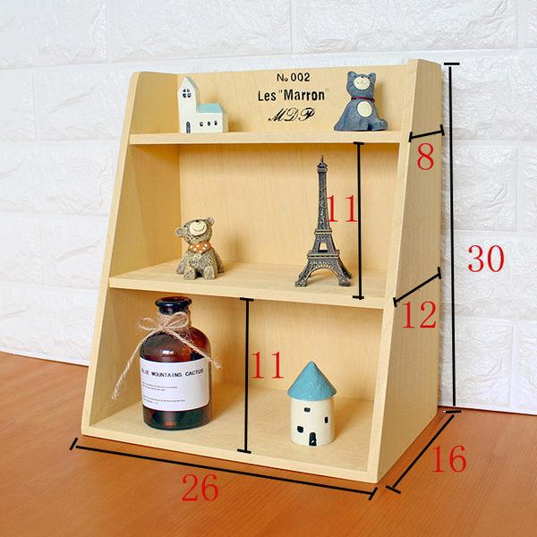 實木桌面置物架梯形三層辦公桌面收納架化妝品架儲物架創意   igo可然精品鞋櫃