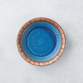 【有種創意】日本美濃燒 - 細雕紋小盤 - 琉璃藍