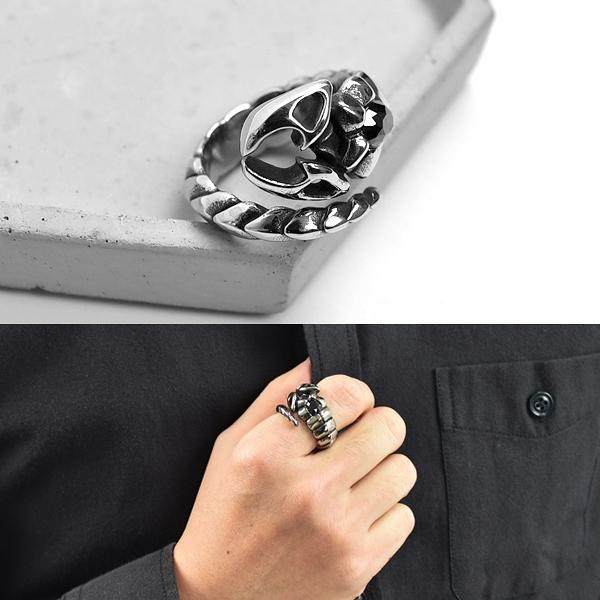 鋼戒 個性單鑽狂爪蠍子鋼戒指 NC248