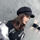 貝雷帽八角帽子韓國英倫貝雷帽麂皮絨鴨舌畫家帽日系百搭報童帽