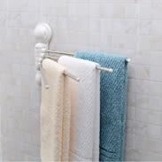 毛巾架 180度可旋轉隱藏式4桿毛巾架組-強力吸盤式 省空間 浴巾架 免釘《Life Beauty》