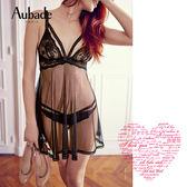 Aubade-上癮S蕾絲網紗罩裙FI
