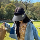 日本UV防曬帽女夏天遮臉大沿空頂帽防紫外線騎行遮陽沙灘太陽帽子 夢幻小鎮