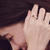 戒指 RCha。愛心彩鑽珍珠可調式戒指-Ruby s 露比午茶