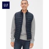Gap男裝 輕盈溫暖無袖拉鏈棉服馬甲 473538-經典海軍藍