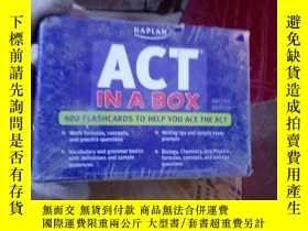 二手書博民逛書店KAPLAN罕見ACT IN A BOX 單張卡片Y15389