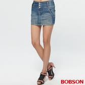 BOBSON 女款高腰頭牛仔短裙(D099-53)