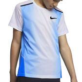 Nike Instacool 大童裝 藍 白 運動上衣 短袖 訓練上衣 Swoosh 材質 涼爽 舒適 893577480
