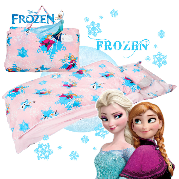 冰雪奇緣 夢幻魔法 粉 兒童睡袋 標準 台灣製 超取限一顆 伊尚厚生活美學
