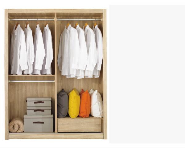 【YUDA】凱文 5*7尺 浮雕橡木紋 推門 衣櫃/衣櫥 J8F 053-3