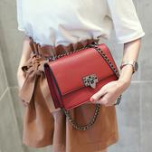 包包女新款潮斜背包百搭鏈條包小方包簡約側背包迷你女包