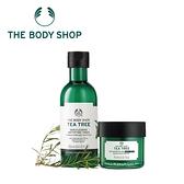 THE BODY SHOP 茶樹淨膚調理水-250ML+茶樹抗瑕淨膚晚安凍膜-75ML 百貨專櫃正貨