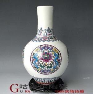 家居裝飾品景德鎮陶瓷器天球花瓶