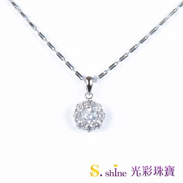 【光彩珠寶】 日本鉑金鑽石項鍊墜飾 女王