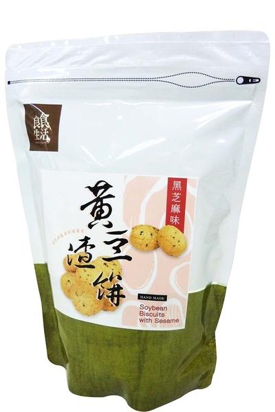 【良食生活】黃豆渣餅-黑芝麻180g■非基因改造黃豆