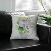 時尚美式鄉村 花鳥棉麻沙發抱枕 辦公室靠墊套 BLW009