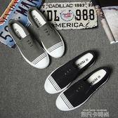 夏季樂福鞋潮鞋駕車新款休閒鞋子韓版潮流板鞋一腳蹬懶人英倫男鞋 依凡卡時尚