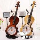 歐式古典小提琴模型擺臺時鐘-創意款...