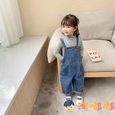 兒童背帶褲春秋男女寶寶休閒牛仔吊帶褲子潮【淘嘟嘟】