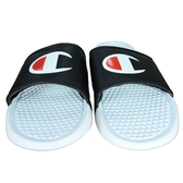 Champion 男女款黑白色休閒涼拖鞋-NO.733250110