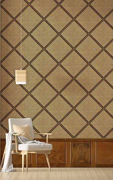 木紋壁紙 籐編織圖案 仿真 荷蘭壁紙 NLXL CANE WEBBING /MRV-26