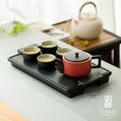 陸寶 【龍啟壺茶禮】一壺四杯茶盤 紅/白...
