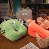 暖手枕趴着桌子午休抱枕睡觉毛絨趴趴枕头【櫻田川島】