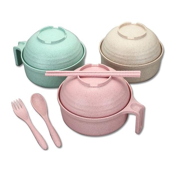 小麥秸稈泡麵碗套組(1組入) 【小三美日】 顏色隨機出貨