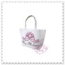 ♥小花花日本精品♥《Melody》美樂蒂 手提袋 購物袋 收納袋 帆布提袋 蝴蝶結 趴姿 粉色 (預購)