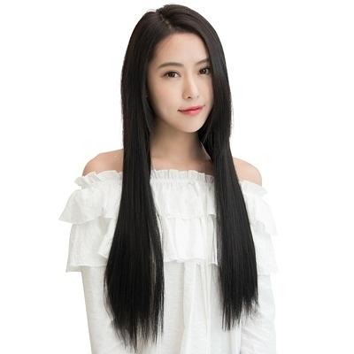 假髮(真髮)-60cm3夾加寬加厚直髮女假髮73uh35【時尚巴黎】