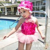 快速出貨-兒童泳衣1女孩2女童泳裝3一歲4女寶寶5小童6裙式嬰幼兒游泳衣公主