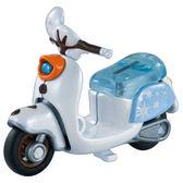 迪士尼小汽車 冰雪奇緣2 雪寶摩托車_DS14024