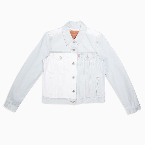 [買1送1]Levis 牛仔外套 女裝 / 短版 / 翻玩色塊拼接