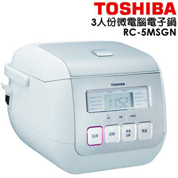 TOSHIBA 東芝 3人份厚釜電子鍋 RC-5MSGN ★6期0利率★