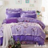 床包組冬季保暖法蘭絨四件套加厚珊瑚絨1.8m床上用品雙面法萊絨被套床單 QG11684『樂愛居家館』