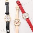【日貨J-axis手錶WD-B02塗鴉風】Norns 迪士尼皮革錶帶 日本機芯 Sunflame 小熊維尼 米奇米妮