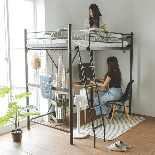 上下舖 工業風 床 床架 單人床架【L0123】卡爾工業風雙層鐵床架 完美主義